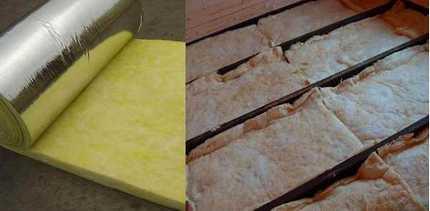 Подложка из плит минваты