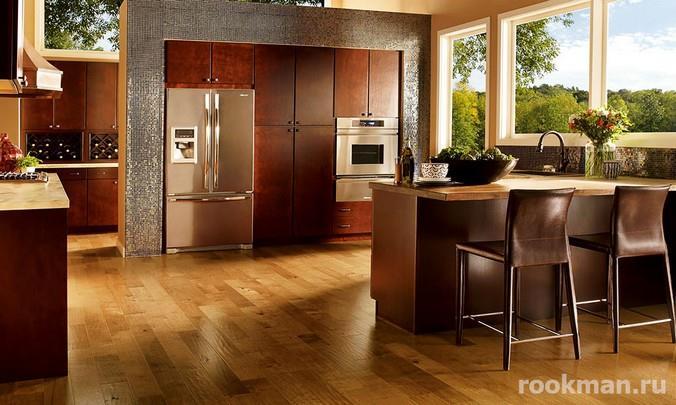 Фото водостойкого ламината в интерьере кухни