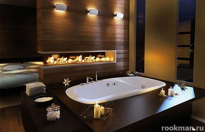 Водостойкий ламинат в интерьере ванной