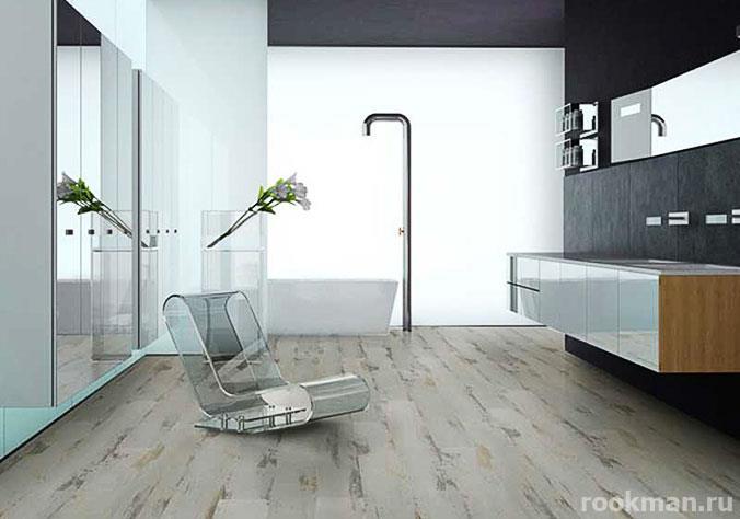 Светлый 100% водостойкий ламинат для ванной комнаты