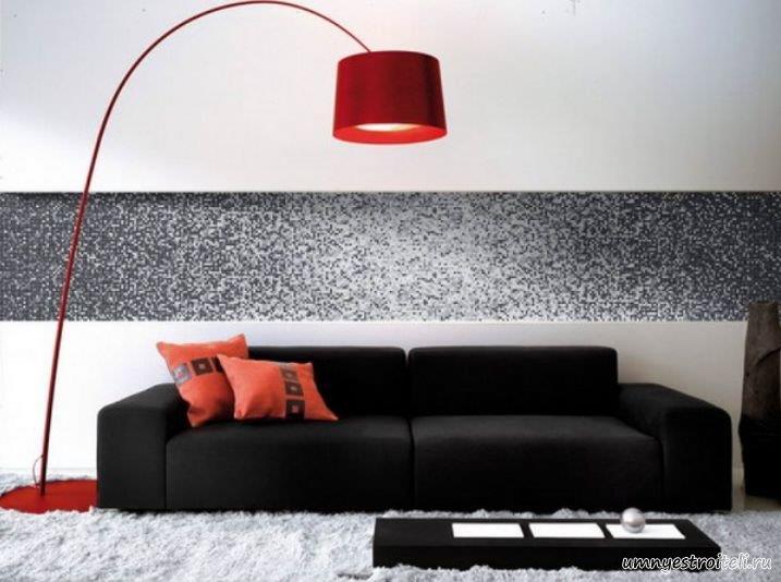 мозаика на стене спальни