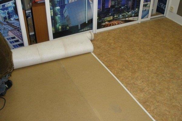 Сухая стяжка для укладки покрытия