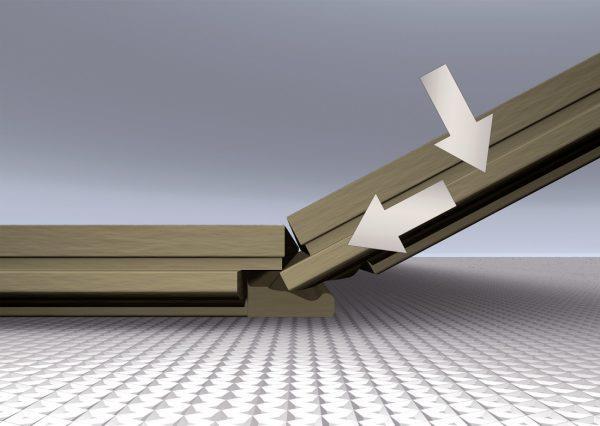 Замковый способ соединение плиток ламината: Click-система