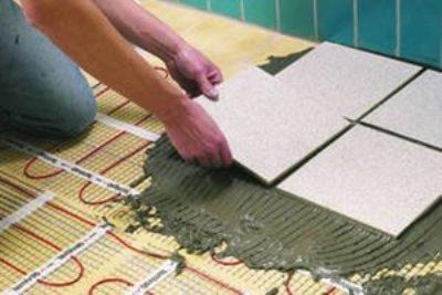 Монтаж плитки на теплый водяной пол