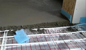 водяной пол с бетонной стяжкой