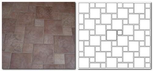 узоры из плитки на полу