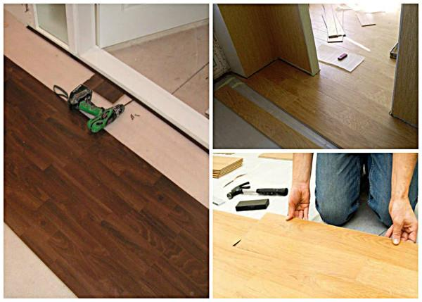 Более простой способ укладки ламината в дверной проем