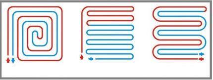 Схема для труб водяного теплого пола