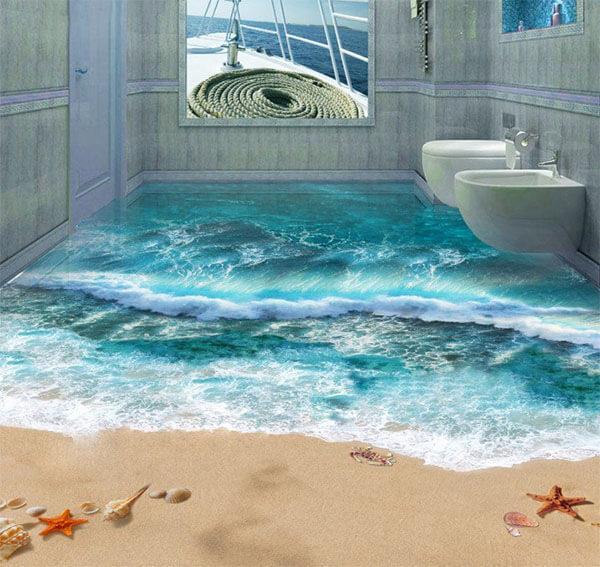 3D-пол в ванной
