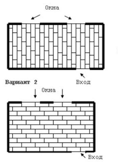 Схема палубной укладки ламината.