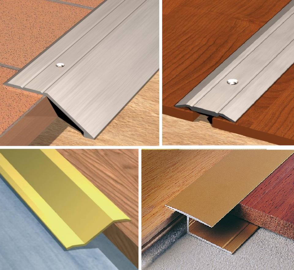 пример использования гибкого порога для ламината и плитки в ремонте квартиры