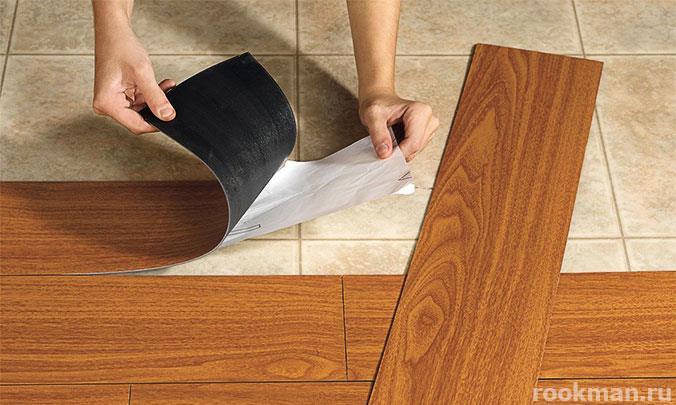 Виниловое напольное покрытие - один из видов ламината