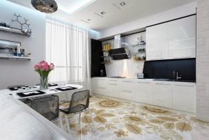 Как выбрать линолеум на кухню