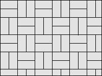 Раскладка «шашечками» - вариант 1