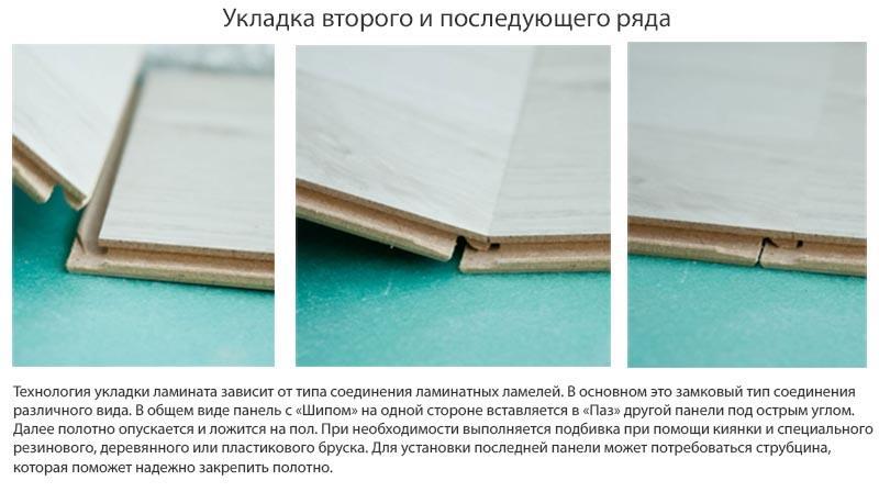 Фото: Информация о укладке панелей с замковым соединением