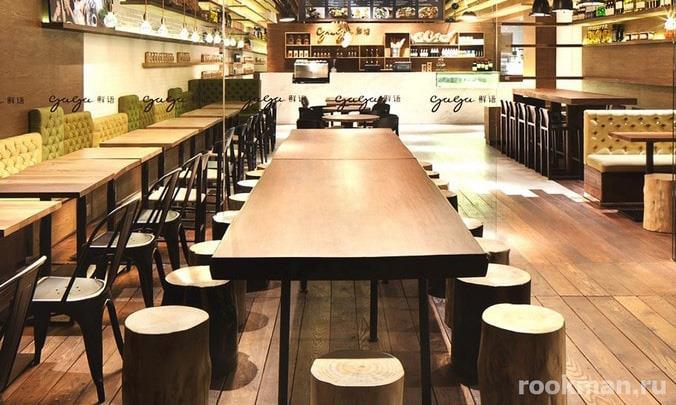Фото коммерческого ламината в интерьере кафе