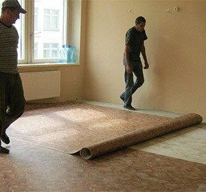 укладка линолеума на бетонный пол своими руками