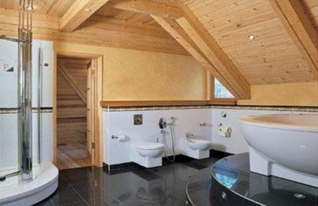Отделка пола в ванной комнате деревянного дома