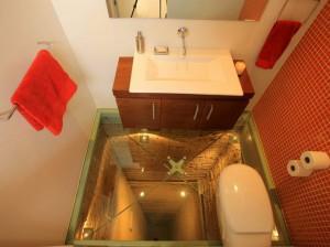 Фото необычного пола в ванной