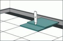 обрезка крайнего ряда при помощи цельной плитки