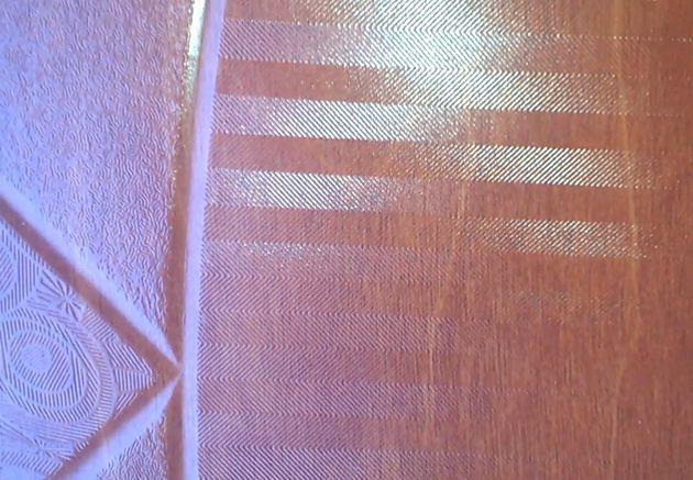 Изменение вида пола покрытого 3D-ламинатом SHINEWOOD (артикул К2). Вид боковых элементов дизайна.