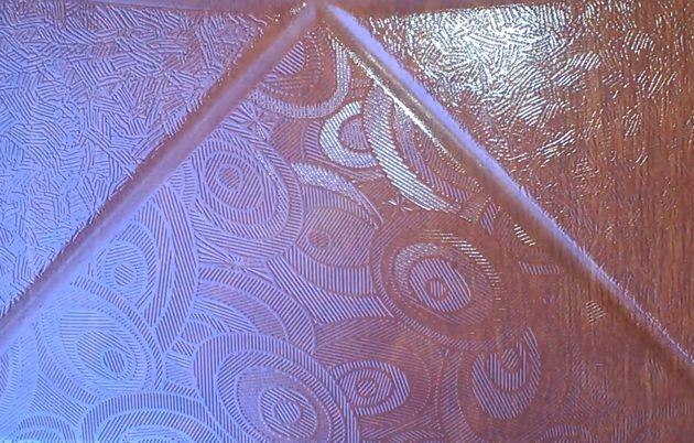 Изменение вида пола покрытого 3D-ламинатом SHINEWOOD (артикул К2). Вид элементов дизайна ламината, смещенных от центра листа.