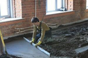 Устройство бетонного пола фото