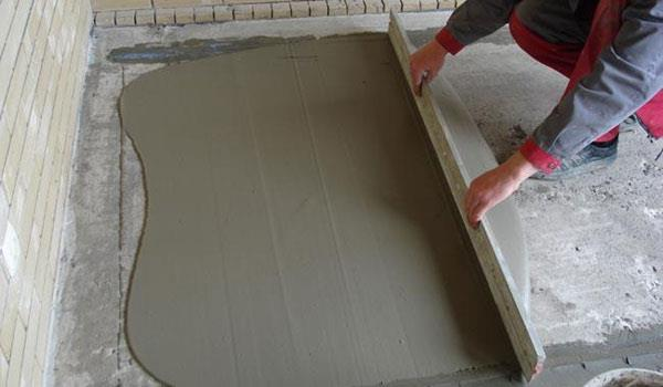 Цементно-песчанная стяжка пола