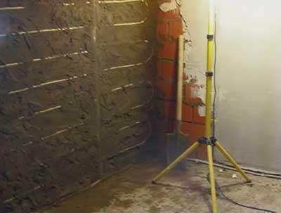 монтаж водяных теплых стен