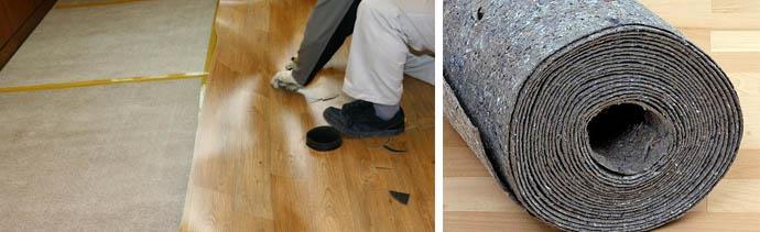 Как стелить подложку на бетонную стяжку своими руками