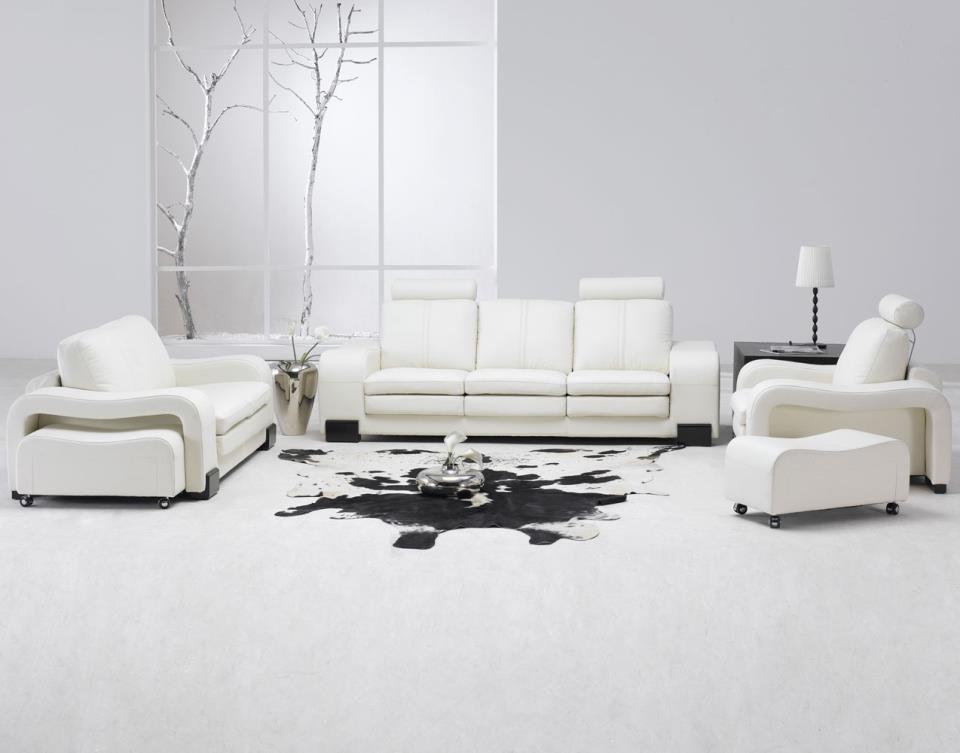 красивый белый пол в дизайне коридора