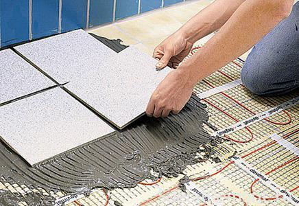 Укладка плитки теплый пол