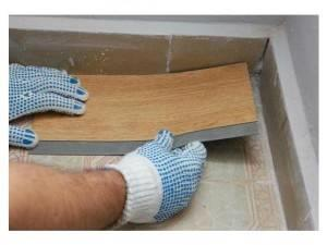 Монтаж виниловой плитки