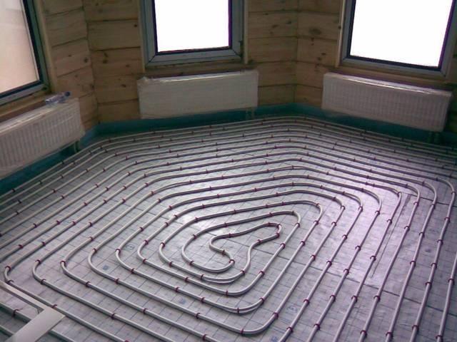 теплый водяной пол в деревянном доме