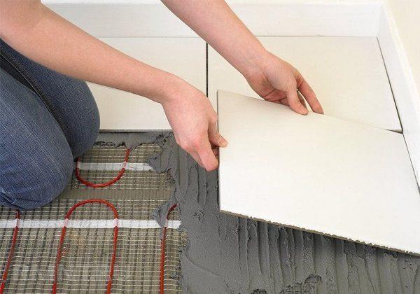 фото: укладка нагревательных матов