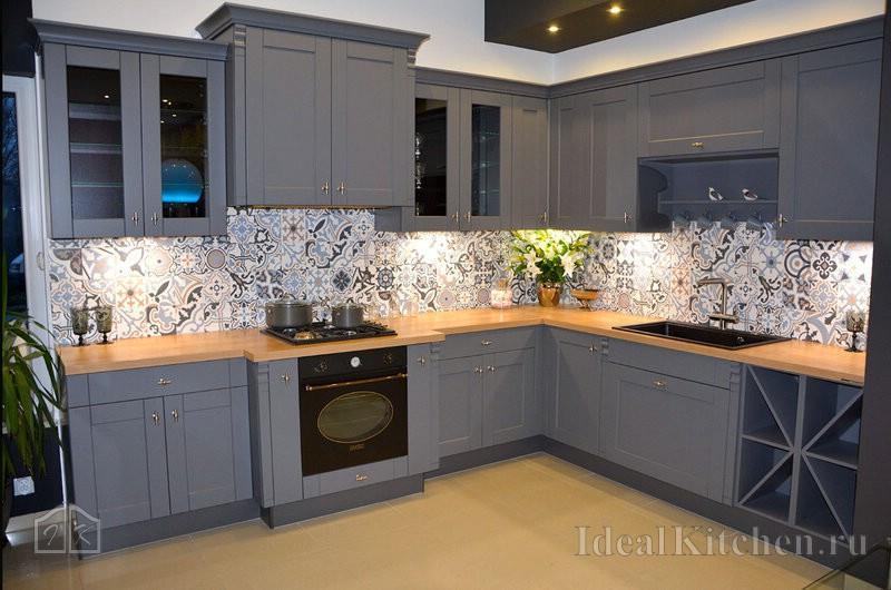 Серые кухни - 32 фото