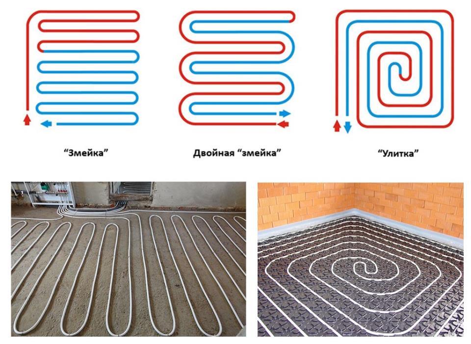 Фото: Схемы укладки по спирали и с чередованием рукава
