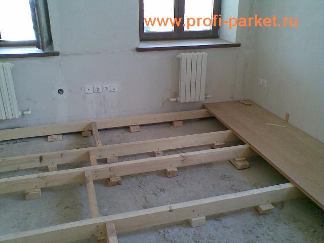 настил (монтаж) деревянного пола