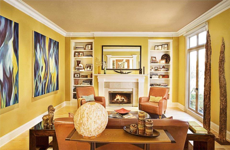 Насыщенно-желтый цвет в сочетании охры
