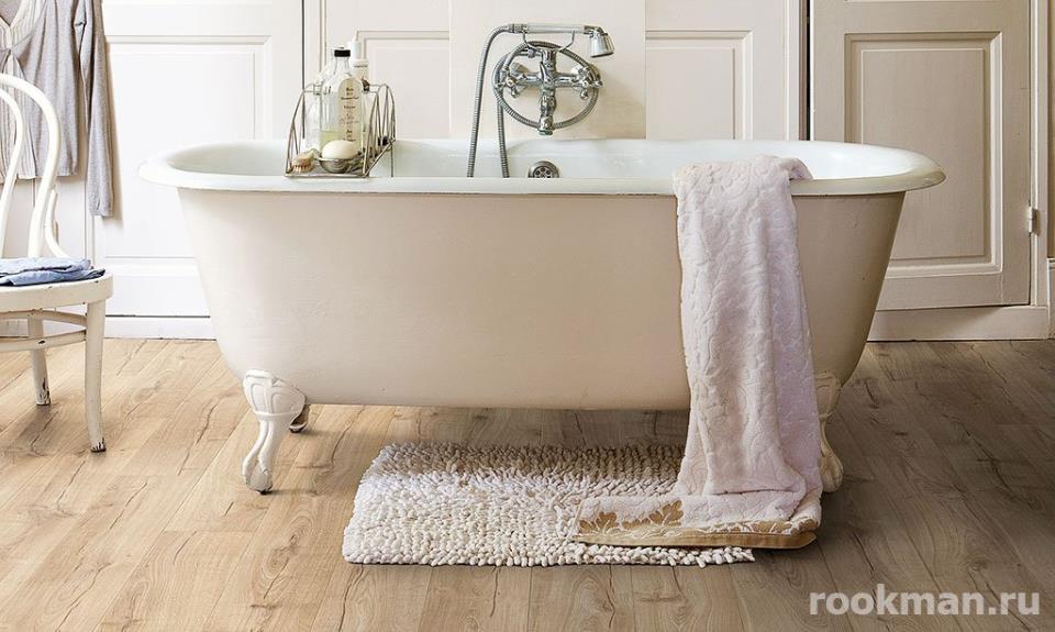 Влагостойкий ламинат для ванной комнаты: 33 класс Quick Step