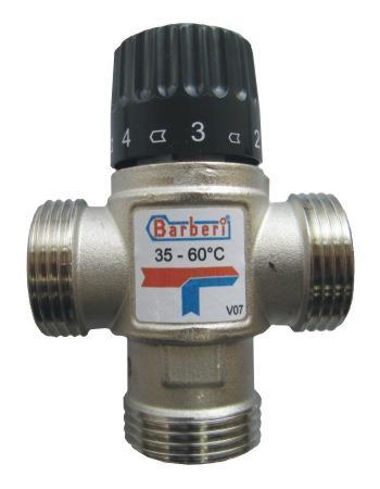 Трехходовой смесительный клапан с терморегулятором для теплого пола