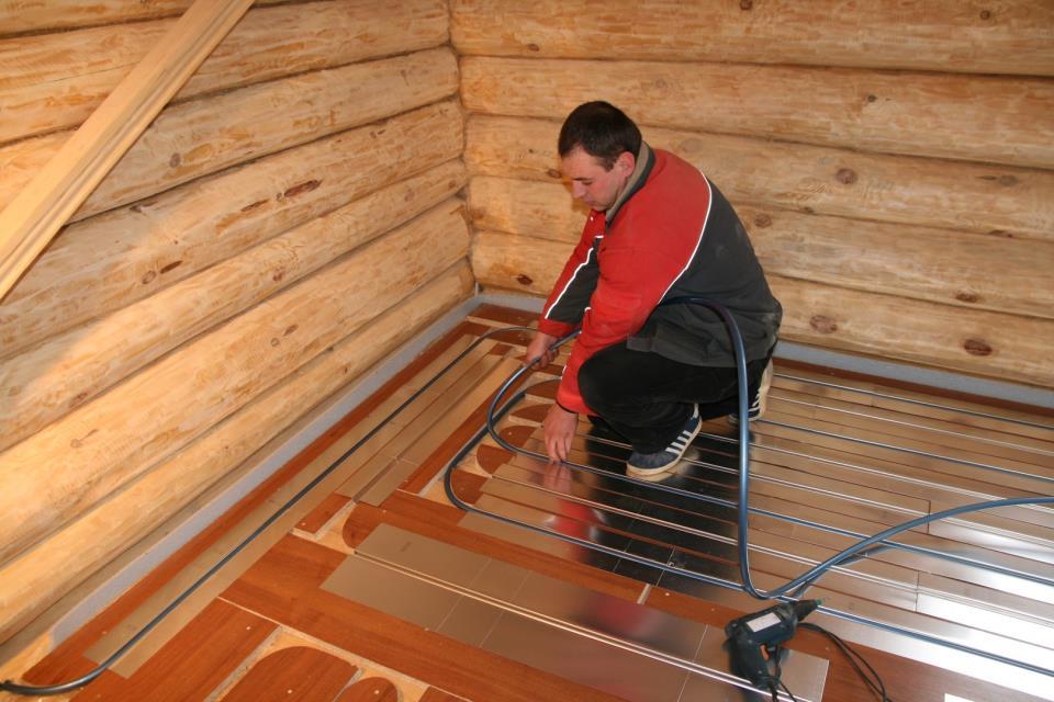 Укладка тёплого пола на деревянное основание