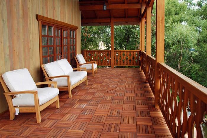 Полы для террасы из древесины