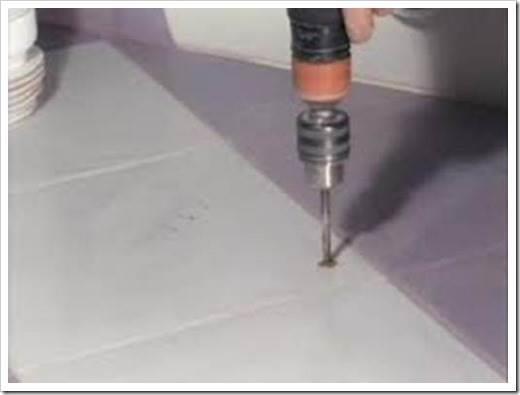 Как сверлить напольную плитку?