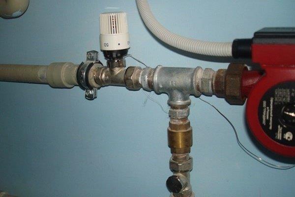 Двухходовый термостат контура отопления