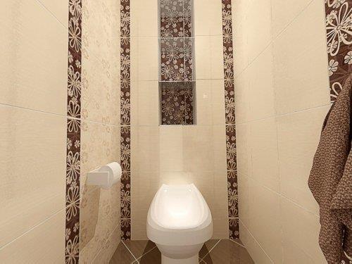 Оригинальный стиль плитки в туалете