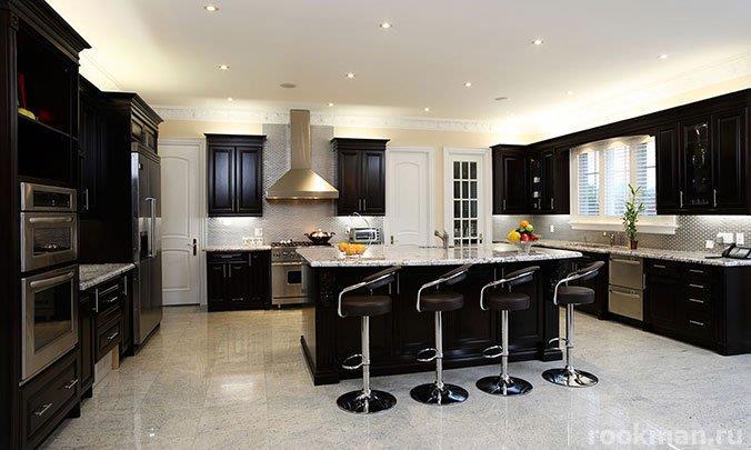 Ламинат под белый мрамор для кухни