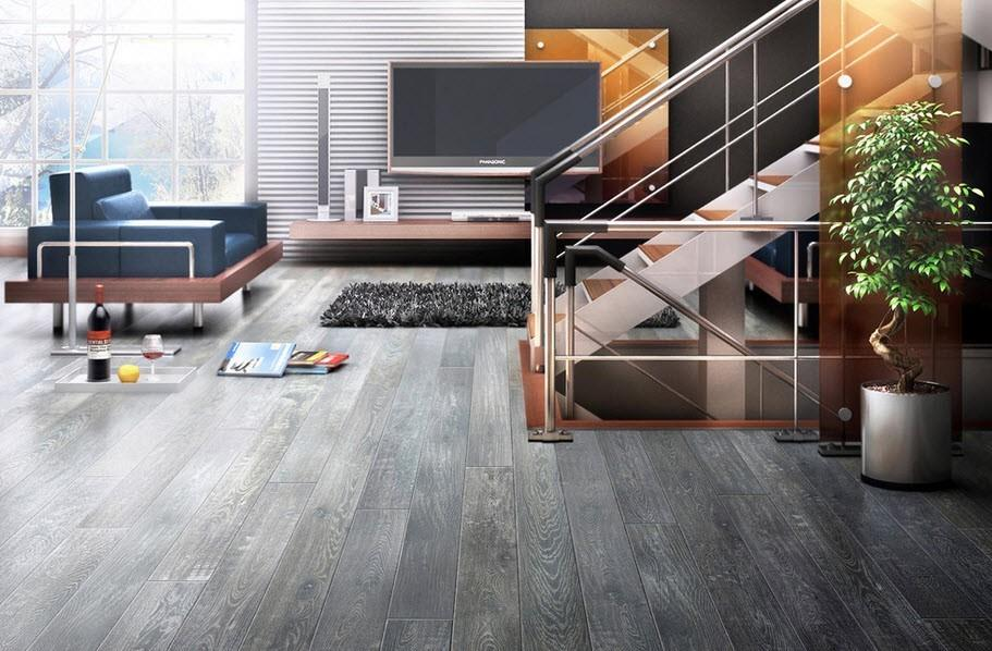 серый ламинат дизайн