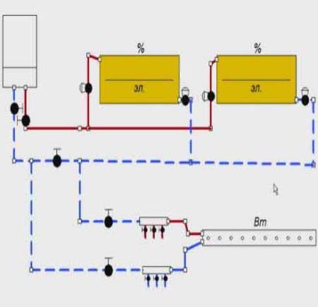 комбинированная система отопления двухтрубная