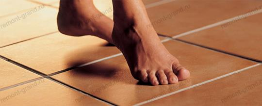 Монтаж инфракрасных теплых полов под керамическую плитку